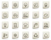 Ecology web icons, document series Stock Photo