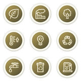 Ecology web icons set 1 Stock Photos