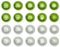 Ecology web icons set 2, circle buttons series Stock Image