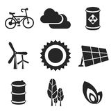 Ecology web and mobile icons set. Vector. Stock Photo