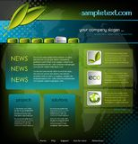 Ecology website template Stock Photography