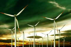 Ecology wind turbine Royalty Free Stock Image