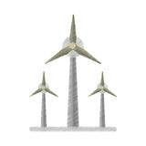 Ecology wind turbine electricity generator ed Royalty Free Stock Image