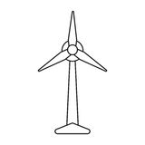 Ecology wind turbine electricity generator pictograph Stock Image