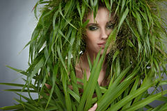 Ecology woman Stock Photos