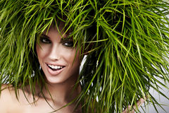 Ecology woman, green concept. Ecology woman, green eco concept Royalty Free Stock Photo