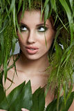 Ecology woman, green concept Royalty Free Stock Photo