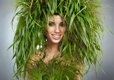 Ecology woman, green concept. Ecology woman, abstract green concept Stock Image