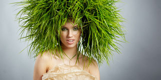 Ecology woman, green concept Royalty Free Stock Image