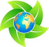 Ecology world. Illustration of ecology world design isolated on white background stock illustration