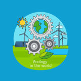 Ecology in the world concept royalty free illustration