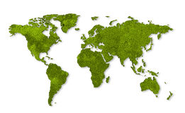 Ecology world map Royalty Free Stock Photos