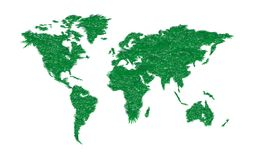 Ecology world map. Royalty Free Stock Image