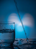 Ecologycal concept. Water preservation, water resources, purification, clear water, water leak. Lifestyle for healthcare. Ecologycal concept. Water preservation Stock Photos
