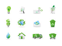 ecomiljösymboler Arkivfoto