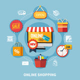 Ecommerce Colored Composition Stock Photo
