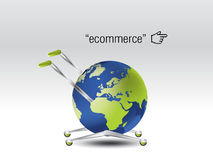 Ecommerce Concept. The world as a cart Royalty Free Stock Photography