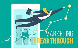Marketing Breakthroug stock illustration