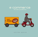 Ecommerce design Royalty Free Stock Photo