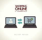 Ecommerce design Royalty Free Stock Photo