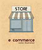 Ecommerce design Royalty Free Stock Photography