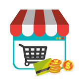Ecommerce design, vector illustration. Stock Photos