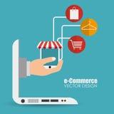 Ecommerce design, vector illustration. Royalty Free Stock Image