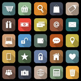Ecommerce flat icons with long shadow Royalty Free Stock Images