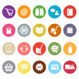 Ecommerce flat icons on white background Stock Photos