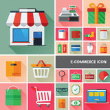 Ecommerce Icon Collection Stock Images