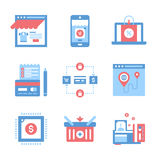 Ecommerce icon concept Royalty Free Stock Images