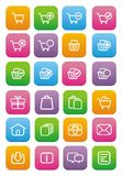 Ecommerce icons - flat style icons Stock Photography
