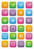 Ecommerce icons - flat style icons Stock Photography