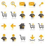 Ecommerce icons set. Ecommerce web icons for your web site Stock Photos