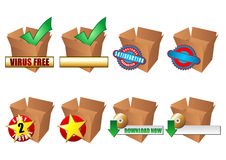 ECommerce icons set Royalty Free Stock Photos