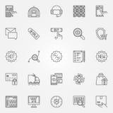 Ecommerce icons set Royalty Free Stock Photo
