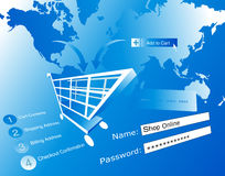Ecommerce illustration Stock Photography