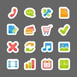 Ecommerce layout interface elements Stock Images