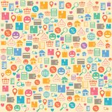 Ecommerce online shopping seamless background stock illustration