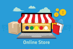 Ecommerce online store. Vector illustration design concept Royalty Free Stock Photos