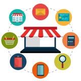 Ecommerce,shopping and marketing design. Stock Images