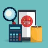 Ecommerce,shopping and marketing design. Ecommerce and marketing design, vector illustration eps10 graphic vector illustration
