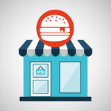 Ecommerce store fast food burger icon Stock Image