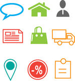 Ecommerce web icon Stock Photos