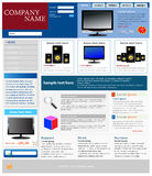 Ecommerce Website Template. A professional Ecommerce website template Royalty Free Stock Photos