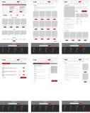 Ecommerce website template, set of six web pages. Flat design la. E-commerce website template, set of six web pages. Flat design layout. Landing page, category vector illustration