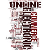 Ecommerce word cloud Stock Photography