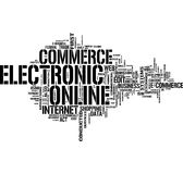 Ecommerce word cloud Royalty Free Stock Images