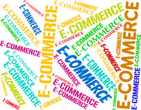 Ecommerce Word Represents Online Business And Biz Stock Photography