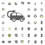 Ecomobile icon. Eco and Alternative Energy vector icon set. Energy source electricity power resource set vector. Ecomobile icon. Eco and Alternative Energy Stock Images